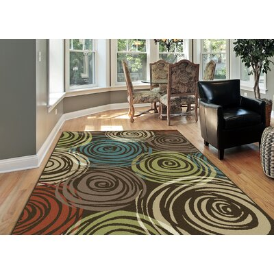Berwick Brown Area Rug Rug Size: 53 x 73