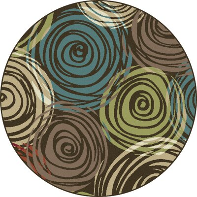 Berwick Brown Area Rug Rug Size: Round 53