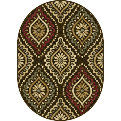 Crawford Brown Area Rug Rug Size: Rectangle 5 x 7