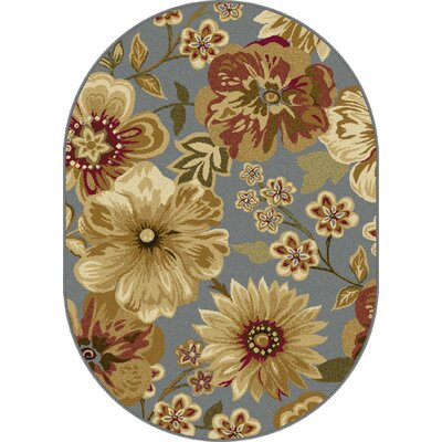 Colesville Blue Area Rug Rug Size: Oval 53 x 73