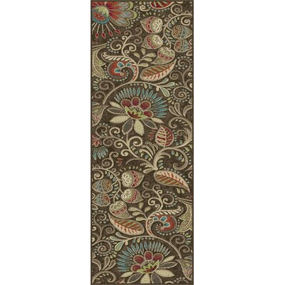 Brimmer Brown Area Rug Rug Size: Runner 2 x 8