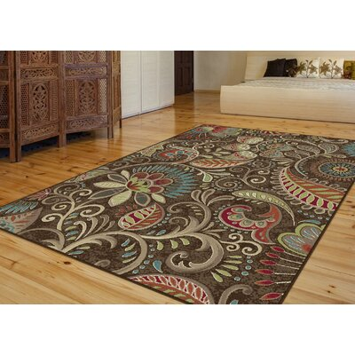 Brimmer Brown Area Rug Rug Size: Rectangle 5 x 8