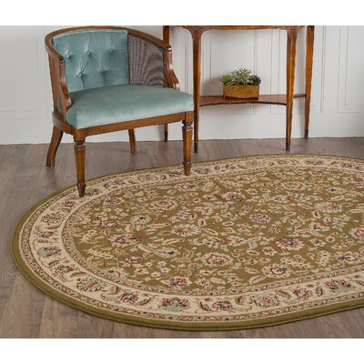 Larios Green Area Rug Rug Size: Rectangle 93 x 125