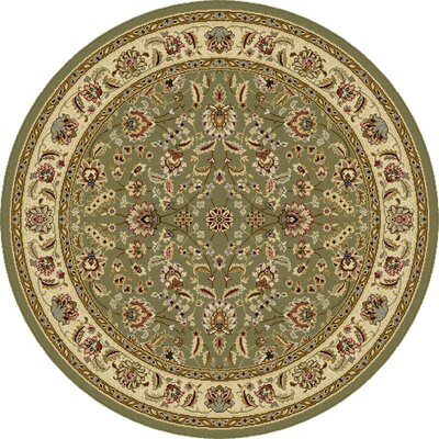 Colesville Green Area Rug Rug Size: Round 710