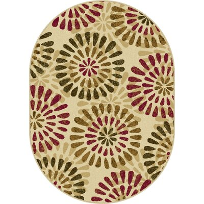 Strope Ivory Area Rug Rug Size: Rectangle 5 x 7