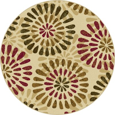 Colesville Ivory Area Rug Rug Size: Round 53