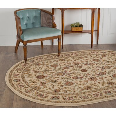 Larios Ivory Area Rug Rug Size: Rectangle 93 x 125