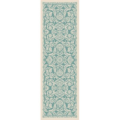Bryson Blue Indoor/Outdoor Area Rug Rug Size: Runner 27 x 73