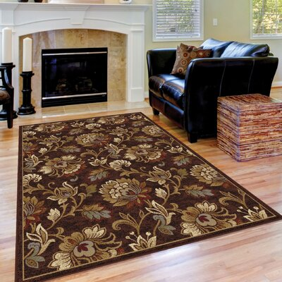 Oliver Brown Area Rug Rug Size: 53 x 73
