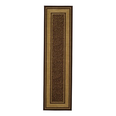 Galesburg Chocolate Indoor/Outdoor Area Rug Rug Size: 18 x 411