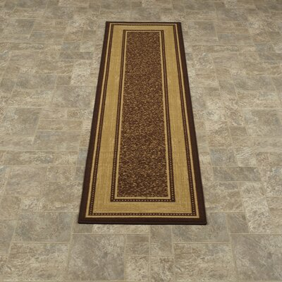 Galesburg Chocolate Indoor/Outdoor Area Rug Rug Size: 5 x 66
