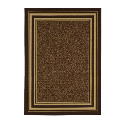 Galesburg Chocolate Area Rug Rug Size: 5 x 7