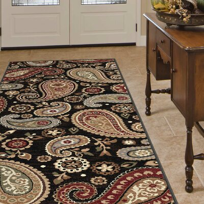 Barbarra Black Area Rug Rug Size: 5'3 x 7'3