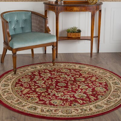Colesville Red Area Rug Rug Size: Round 710