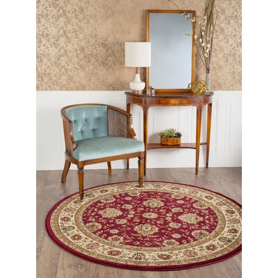 Bernice Red Area Rug Rug Size: Round 710