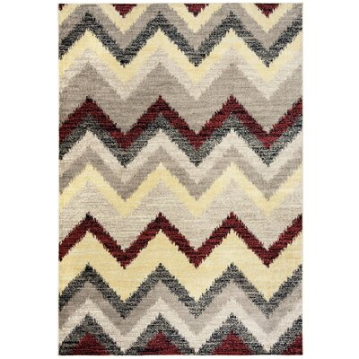 Culver Geometric Beige Area Rug Rug Size: Rectangle 93 x 126