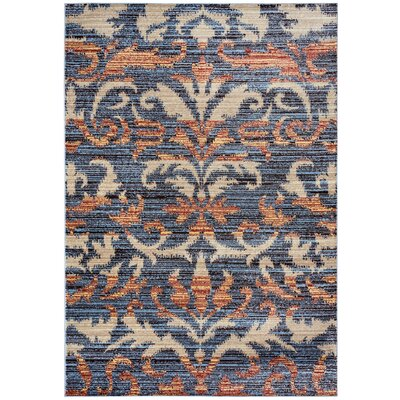 Evangeline Gray Floral/Geometric Area Rug Rug Size: Rectangle 53 x 77