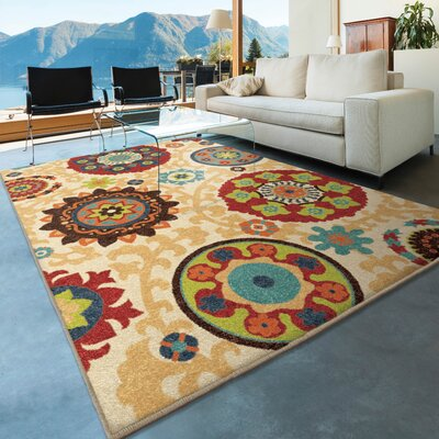 Phelps Beige Indoor/Outdoor Area Rug Rug Size: 310 x 55