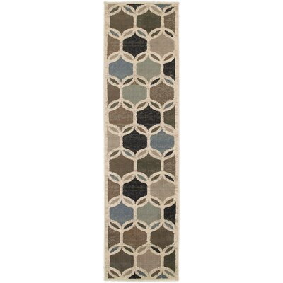Thomasin Ivory Area Rug Rug Size: Runner 110 x 73