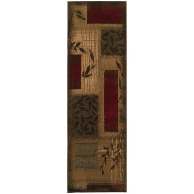 Abell Beige/Wine Red Area Rug Rug Size: Runner 26 x 79