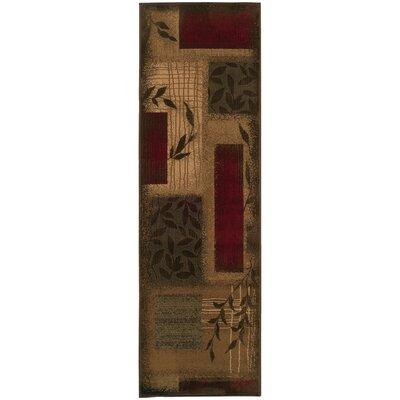Abell Beige/Wine Red Area Rug Rug Size: Runner 26 x 79
