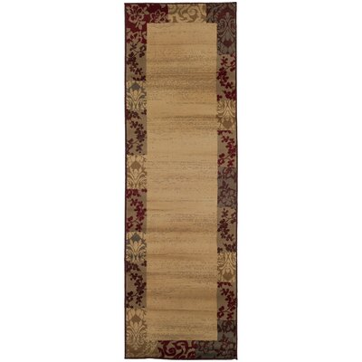 Garmon Beige/Red Area Rug Rug Size: Runner 26 x 79