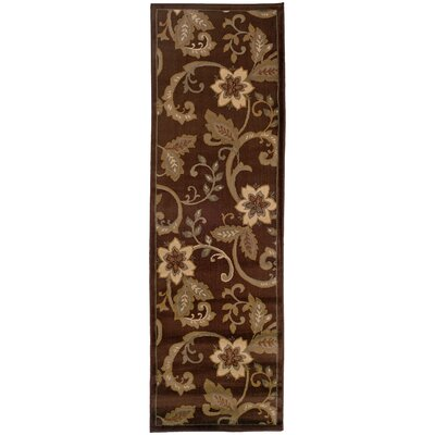 Garmon Brown/Ivory Area Rug Rug Size: Runner 26 x 79