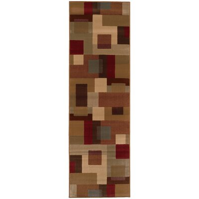 Garmon Red/Tan Area Rug Rug Size: Runner 26 x 79