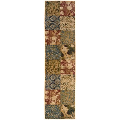 Albrightsville Beige/Green Area Rug Rug Size: Rectangle 710 x 10