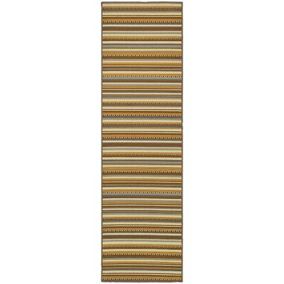 Milltown Grey/Gold Indoor/Outdoor Area Rug Rug Size: Runner 2'3