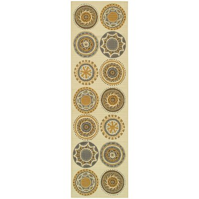 Milltown Ivory/Grey Indoor/Outdoor Area Rug Rug Size: Runner 23 x 76
