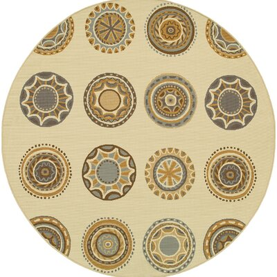 Milltown Ivory/Grey Indoor/Outdoor Area Rug Rug Size: 53 x 76