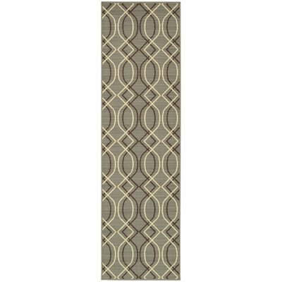 Milltown Blue/Grey Indoor/Outdoor Area Rug Rug Size: Runner 23 x 76