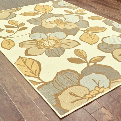 Milltown Ivory/Grey Indoor/Outdoor Area Rug Rug Size: 19 x 39