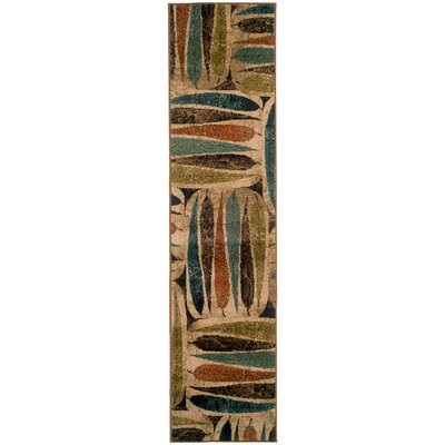 Bienville Brown/Green Area Rug Rug Size: Runner 110 x 76
