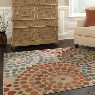 Bienville Gold/Blue Area Rug Rug Size: 67 x 96