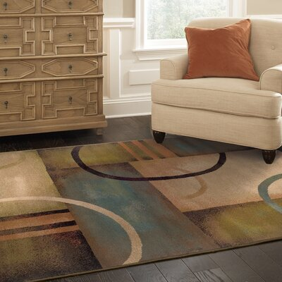 Bienville Brown/Gold Area Rug Rug Size: 67 x 96