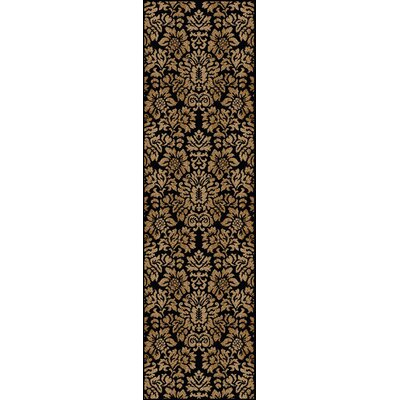 Mitchell Black/Brown Area Rug Rug Size: Runner 22 x 77