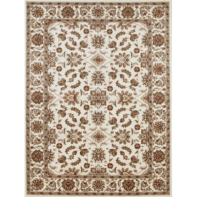 Westminster Ivory Area Rug Rug Size: Rectangle 55 x 77