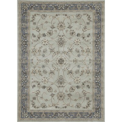 Newport Soft Mint/Ivory/Beige Area Rug Rug Size: Rectangle 55 x 77