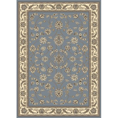 Newport Gray/Blue Area Rug Rug Size: Rectangle 55 x 77