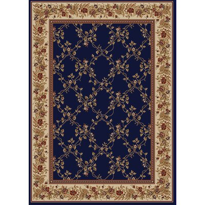 Westminster Navy Area Rug Rug Size: Rectangle 55 x 77