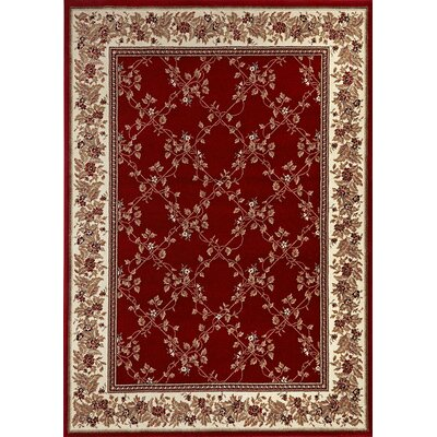 Westminster Red Area Rug Rug Size: Round 8