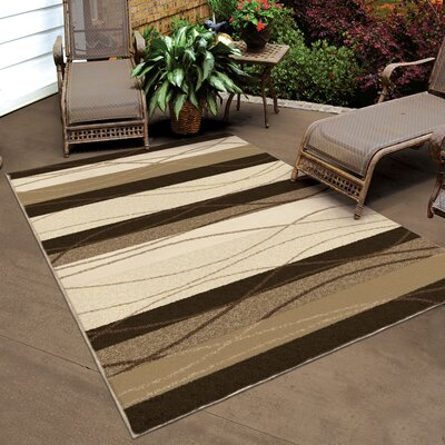 Toland Beige Indoor/Outdoor Area Rug Rug Size: 52 x 76