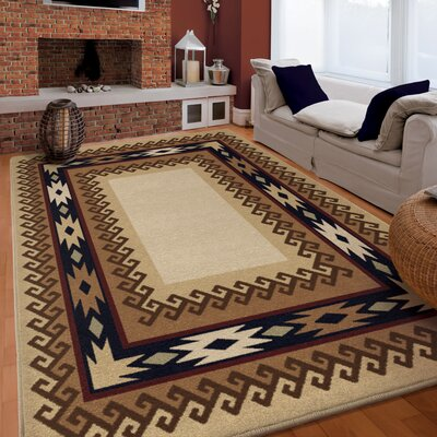 Nadia Brown Area Rug Rug Size: 710 x 1010