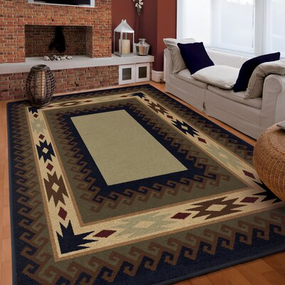 Ruben Brown Area Rug Rug Size: 53 x 76