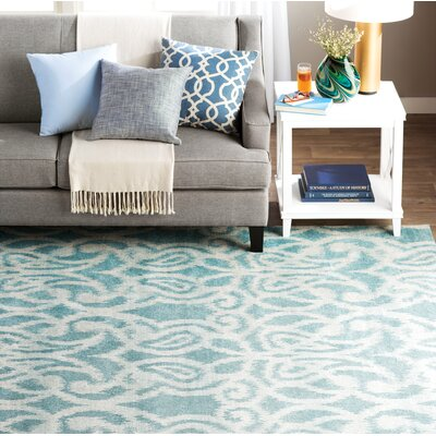 Hodgins Teal Area Rug Rug Size: Rectangle 22 x 4