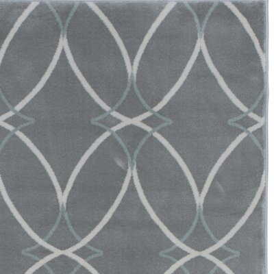 Gray Area Rug Rug Size: Runner 22 x 77