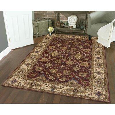 Columbus Burgundy Area Rug Rug Size: 33 x 411