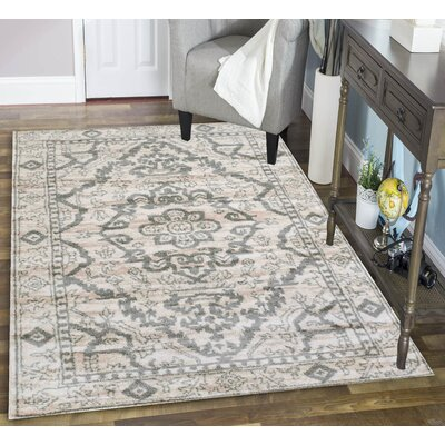 Avery Bone Area Rug Rug Size: 710 x 102